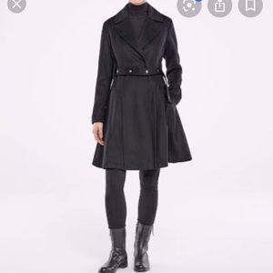 New Italian coat Sarah Pacini virgin wool cashmere